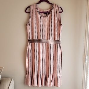 Striped Fitted Knit Tank Dress